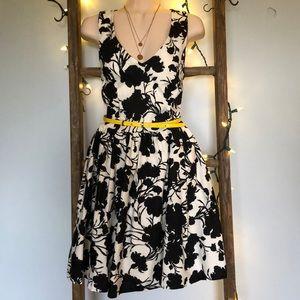 Vintage Style Patterned Elle Dress